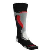 Bridgedale Control Fit Ski Socks - Lightweight, Wool (For Men and Women) in Black/Stone - 2nds