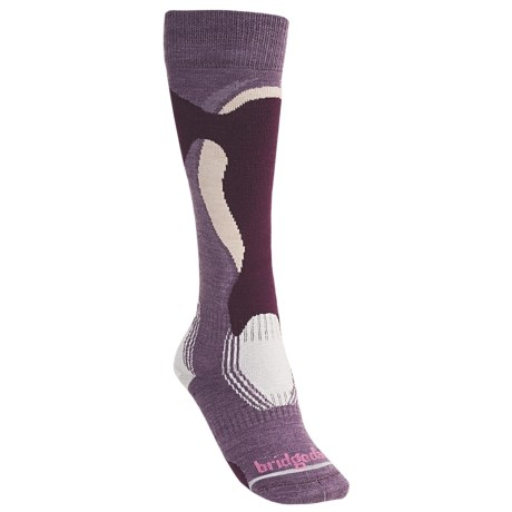 Bridgedale Control Fit Ski Socks - Lightweight, Wool (For Women) in Spring Moss
