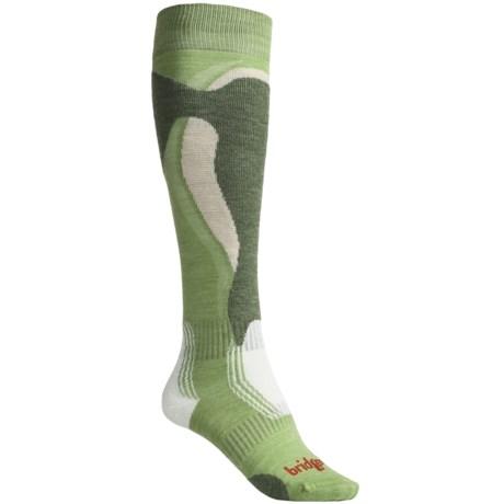 Bridgedale Control Fit Ski Socks - Lightweight, Wool (For Women) in Spring Moss