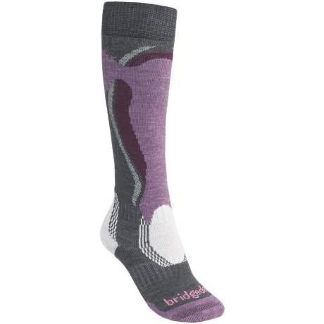 Bridgedale Control Fit Ski Socks - Midweight (For Women) in Chr/Ppl/Dppl