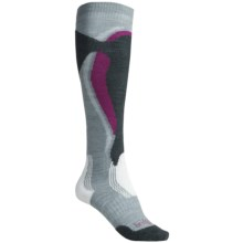 Bridgedale Control Fit Ski Socks - Midweight (For Women) in Stone/Berry - 2nds
