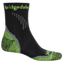 Bridgedale Cool Fusion Run Qw-ik Socks - Crew (For Men) in Black - Closeouts