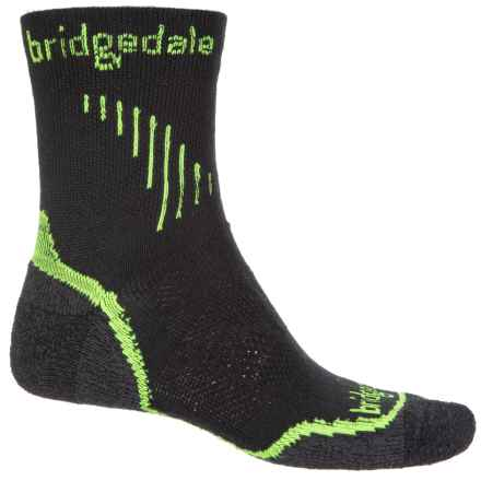 Bridgedale Cool Fusion Run Qw-ik Socks - Crew (For Men) in Lime - Closeouts