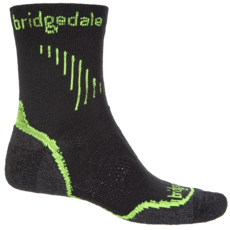 Bridgedale Cool Fusion Run Qw-ik Socks - Crew (For Men) in Lime