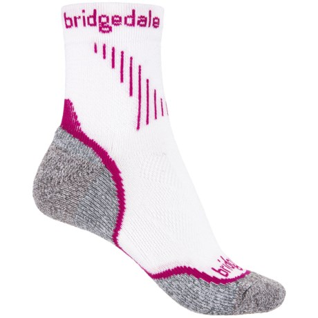 Bridgedale Cool Fusion Run Qw-ik Socks - Crew (For Women) in Dusky Pink