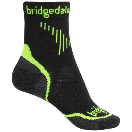Bridgedale Cool Fusion Run Qw-ik Socks - Crew (For Women) in Lime