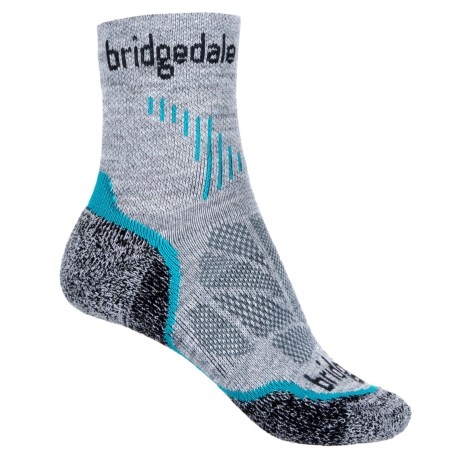 Bridgedale Cool Fusion Run Qw-ik Socks - Crew (For Women) in Turquoise