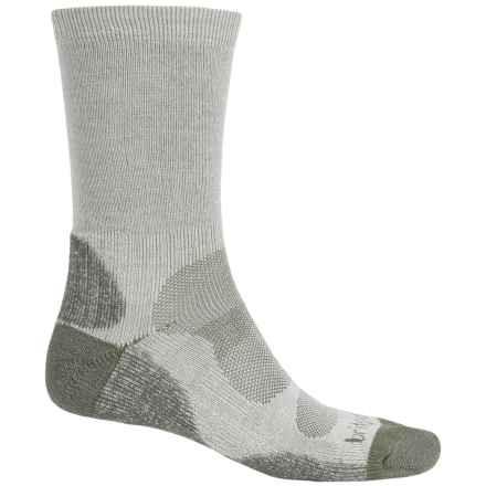 Bridgedale Cool-Max® Socks - Crew (For Men) in Natural/Eucalyptus - 2nds