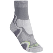 Bridgedale CoolFusion Light Hiker Socks - Merino Wool, Crew (For Women) in Grey/Jade - 2nds