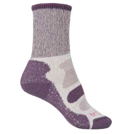Bridgedale CoolFusion® Light Hiker Socks - Mid Calf (For Women) in Plum - 2nds