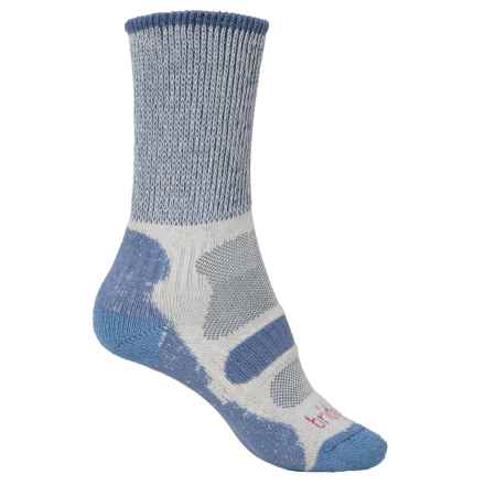 Bridgedale CoolFusion® Light Hiker Socks - Mid Calf (For Women) in Smokey Blue - 2nds