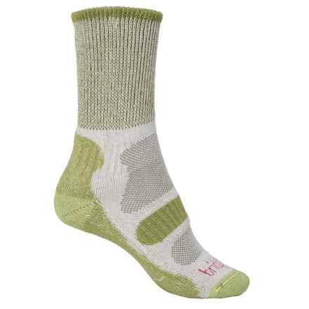 Bridgedale CoolFusion® Light Hiker Socks - Mid Calf (For Women) in Spring Green - 2nds