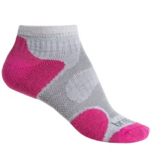 Bridgedale CoolFusion® Multisport Socks - Ankle (For Women) in Grey/Pink - 2nds