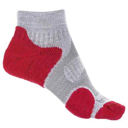 Bridgedale CoolFusion® Multisport Socks - Ankle (For Women) in Grey/Raspberry - 2nds