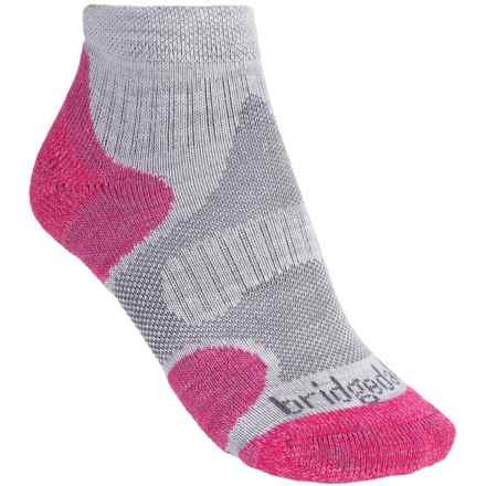 Bridgedale CoolFusion Multisport Socks - Merino Wool (For Women) in Grey/Raspberry - Closeouts