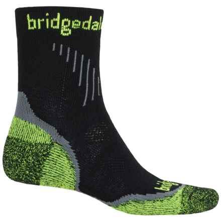 Bridgedale CoolFusion® Run Qw-ik Running Socks - Quarter Crew (For Men) in Black - 2nds