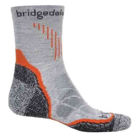 Bridgedale CoolFusion Run Qw-ik Socks - CoolMax®-Merino Wool, Crew (For Men) in Grey - 2nds