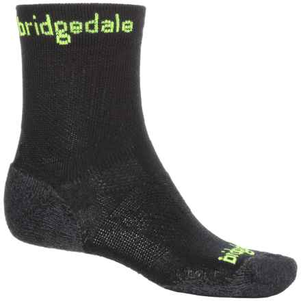 Bridgedale CoolFusion Run Qw-ik Socks - CoolMax®-Merino Wool, Crew (For Men) in Lime - 2nds