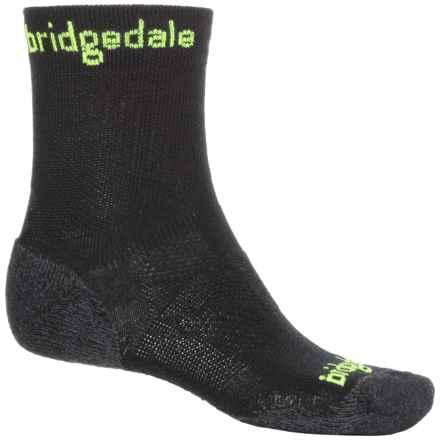 Bridgedale CoolFusion Run Qw-ik Socks - CoolMax®-Merino Wool, Crew (For Men) in Lime - 2nds