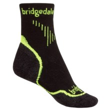 Bridgedale CoolFusion Run QW-IK Socks  - Merino Wool, Quarter Crew (For Women) in Lime - Closeouts