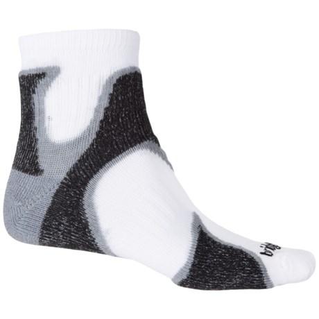 Bridgedale CoolFusion Run Speed Demon Socks - Ankle (For Men) in Grey/Black