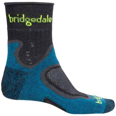 Bridgedale CoolFusion® Run Speed Trail Running Socks - Quarter Crew (For Men) in Blue - Closeouts