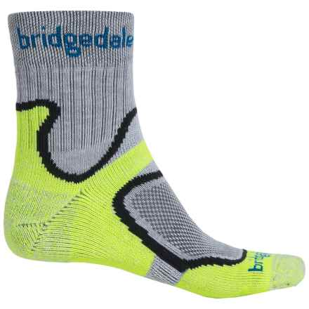Bridgedale CoolFusion® Run Speed Trail Running Socks - Quarter Crew (For Men) in Lime - Closeouts