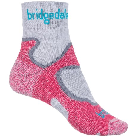 Bridgedale CoolFusion Run Speed Trail Socks - Ankle (For Women) in Dusky Pink