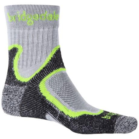 Bridgedale CoolFusion® Run Speed Trail Socks - Crew (For Men) in Black