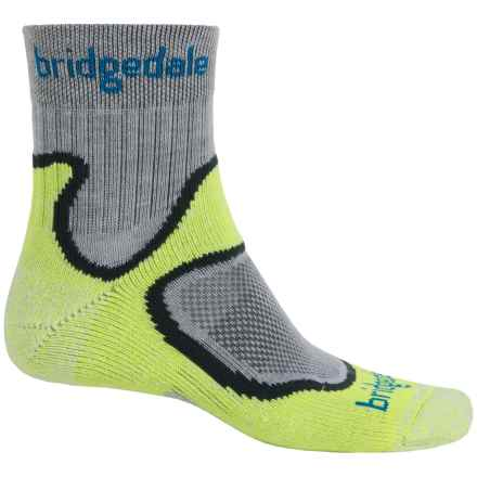 Bridgedale CoolFusion® Run Speed Trail Socks - Crew (For Men) in Lime - Closeouts