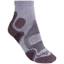 Bridgedale CoolFusion Trail Diva Socks - Merino Wool, Quarter Crew (For Women) in Heather/Damson - 2nds
