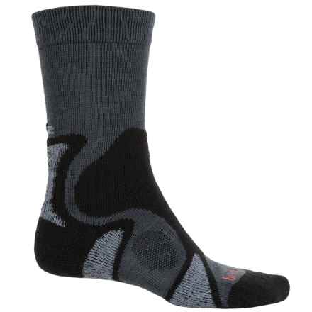 Bridgedale CoolFusion® TrailBlaze Hiking Socks - Crew (For Men) in Gunmetal/Black - 2nds