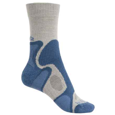 Bridgedale CoolFusion Trailblaze Lo Socks - Crew (For Women) in Natural/Blue - 2nds