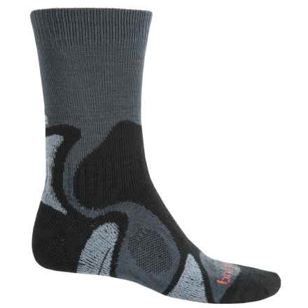 Bridgedale CoolFusion TrailBlaze Socks - Merino Wool, Crew (For Men) in Gunmetal/Black - 2nds