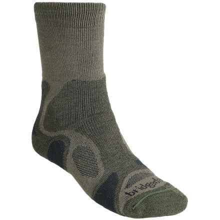 Bridgedale CoolFusion TrailBlaze Socks - Merino Wool, Crew (For Men) in Olive - 2nds