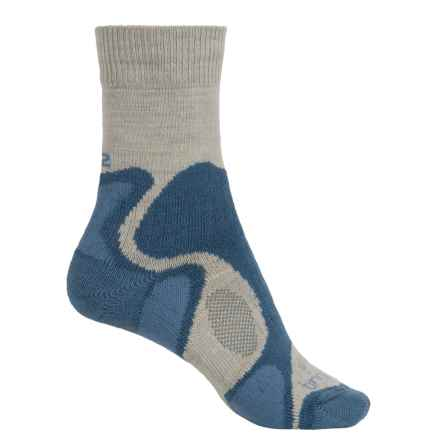 Bridgedale CoolFusion TrailBlaze Socks - Merino Wool, Crew (For Women) in Natural/Blue - 2nds