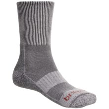 Bridgedale CoolMax® Comfort Trail Socks - Crew, Medium Cushion (For Men) in Light Grey/Grey - 2nds