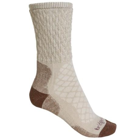 Bridgedale CoolMax® Comfort Trail Socks - Crew, Medium Cushion  (For Women) in Sand