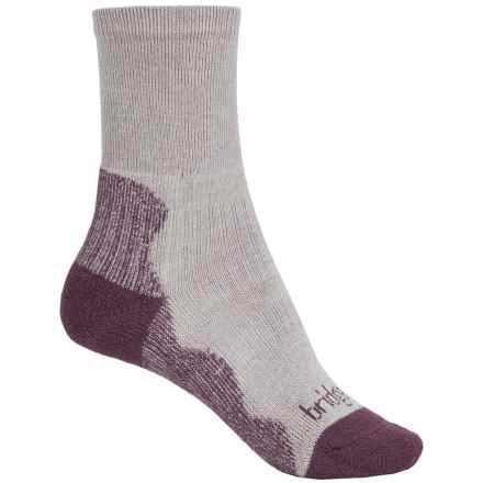Bridgedale CoolMax® Crew Socks - Crew (For Women) in Aubergine - 2nds