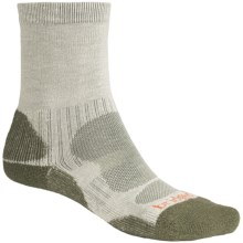 Bridgedale CoolMax® Crew Socks (For Men) in Natural / Olive - 2nds