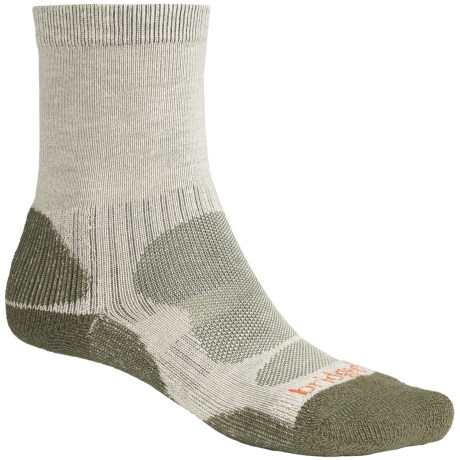 Bridgedale CoolMax® Crew Socks (For Men) in Natural/Dark Brown