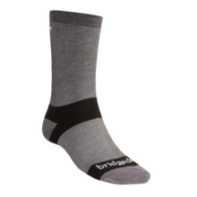 Bridgedale CoolMax® Liner Socks (For Men and Women) in Grey/Black - 2nds