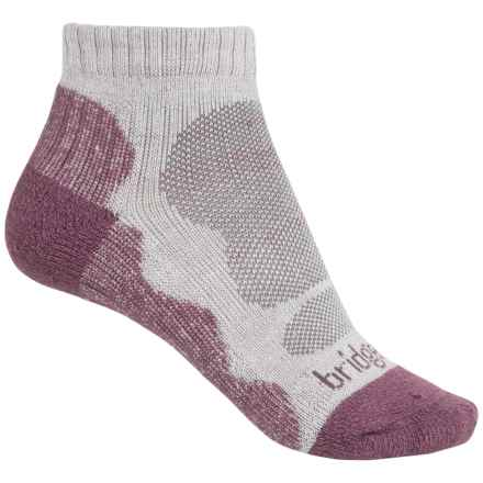Bridgedale CoolMax® Lo Socks - Ankle (For Women) in Aubergine - 2nds