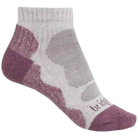 Bridgedale CoolMax® Lo Socks - Ankle (For Women) in Aubergine - 2nds