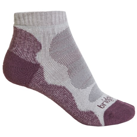 Bridgedale CoolMax® Lo Socks - Quarter Crew (For Women) in Aubergine