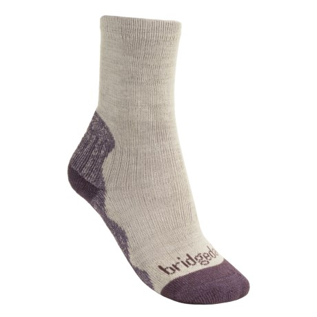 Bridgedale CoolMax®Crew Socks - Lightweight (For Women) in Natural/Purple