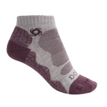 Bridgedale Doite CoolMax® Lo Socks - Below the Ankle (For Women) in Silver/Plum - 2nds