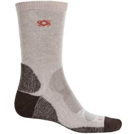 Bridgedale Doite CoolMax® Socks - Crew (For Men) in Natural/Chocolate - 2nds