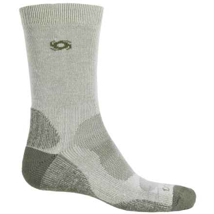 Bridgedale Doite CoolMax® Socks - Crew (For Men) in Natural/Eucalyptus - 2nds