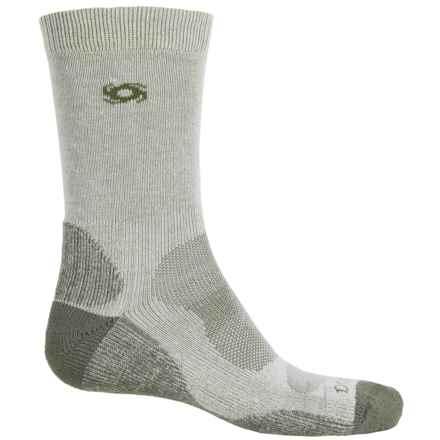 Bridgedale Doite CoolMax® Socks - Crew (For Men) in Natural/Eucalyptus - 2nds